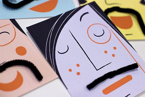 Interactive Mustache Cards | Doo Daa Studio