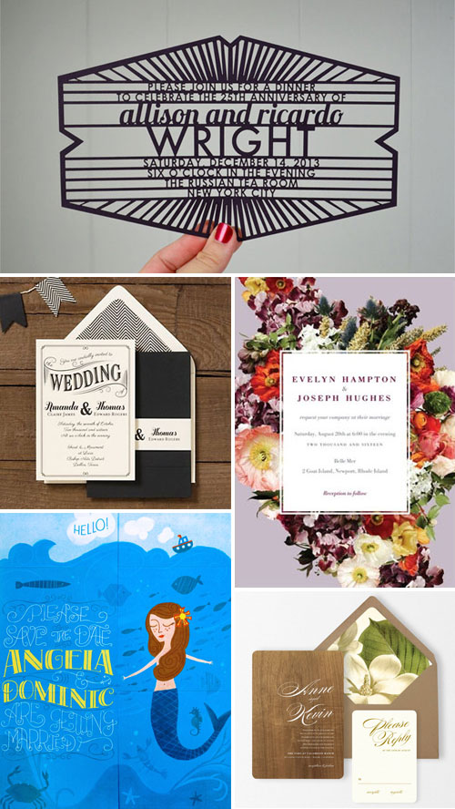Wedding Invitations Featured Recently on Invitation Crush
