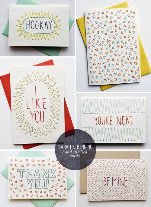 Hand Stitched Cards | Sarah K. Benning
