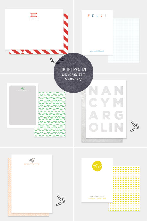 Modern Personalized Stationery | Up Up Creative