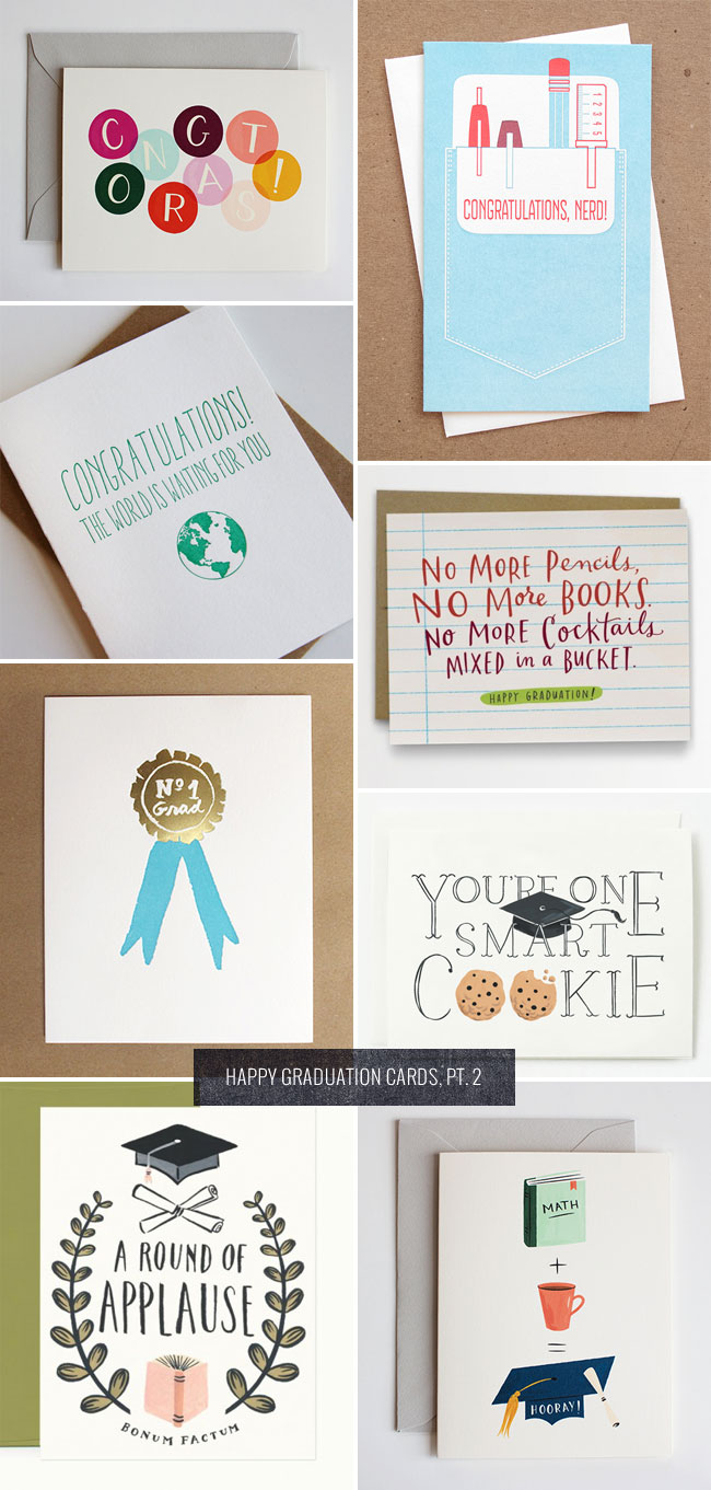 Happy Graduation Cards, Pt. 2 as seen on papercrave.com