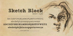 Sketch Block Font by Artill