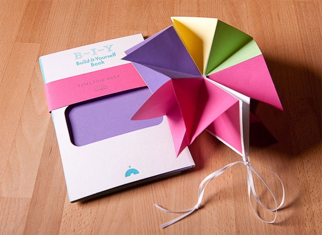 Build-It-Yourself Letterpress Petal Fold Book | Igloo Letterpress