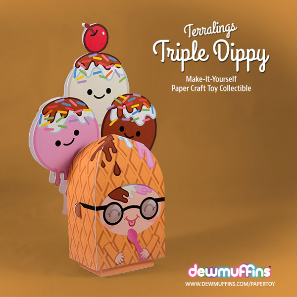 Triple Dippy Free Printable Paper Toy | Dewmuffins