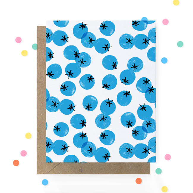 Blueberry Print Card | Hooray Today