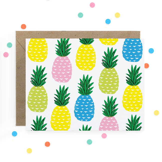 Pineapple Print Card | Hooray Today