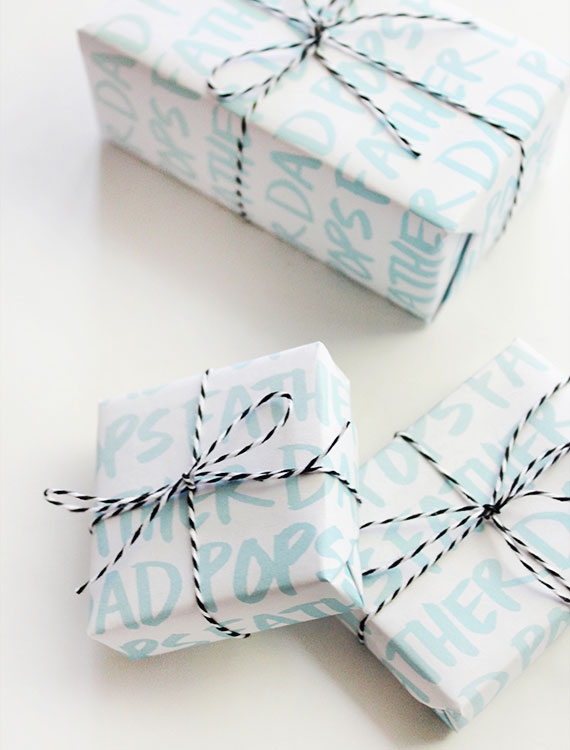 Printable Father's Day Gift Wrap   Almost Makes Perfect