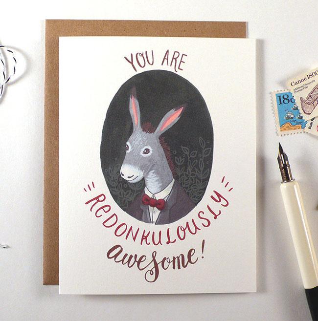 Redonkulously Awesome Card   Four Wet Feet Studio