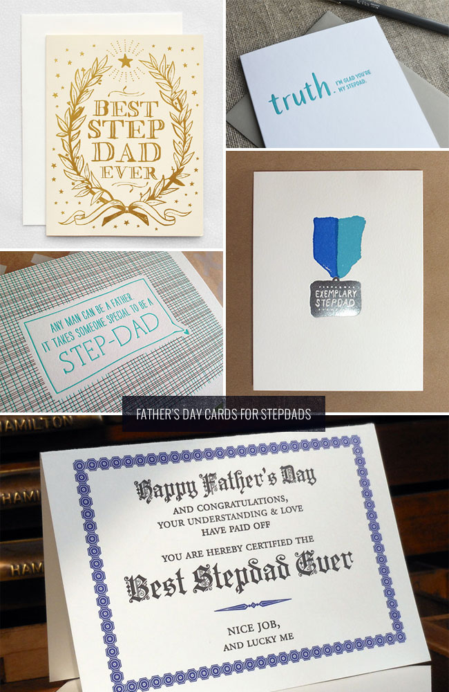 Father's Day Cards for Stepdads as seen on papercrave.com