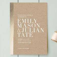 Band of Gold Wedding Invitations by Annie Clark