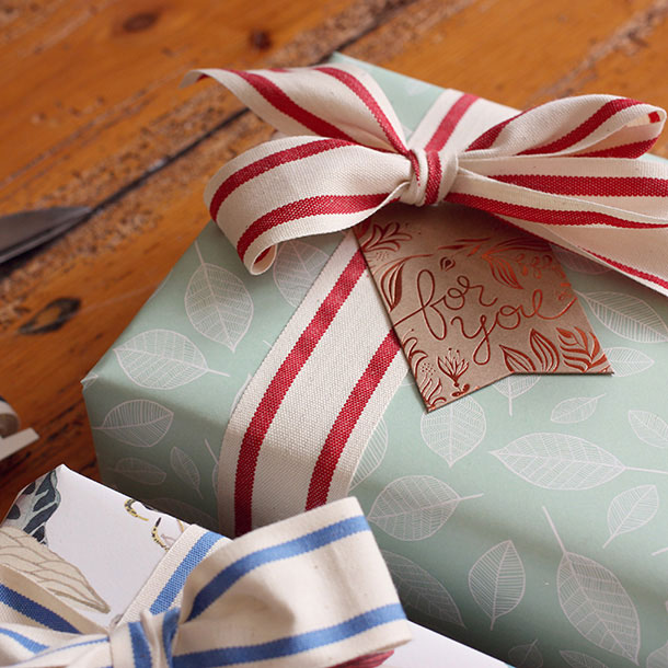 Double Sided Gift Wrap | Bespoke Letterpress
