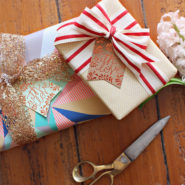 Lemon Dots & Neon Triangles Gift Wrap | Bespoke Letterpress