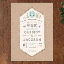 Rustic Kraft Wedding Invitations by Jennifer Wick