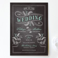 Floral Chalkboard Wedding Invitations by Lehan Veenker