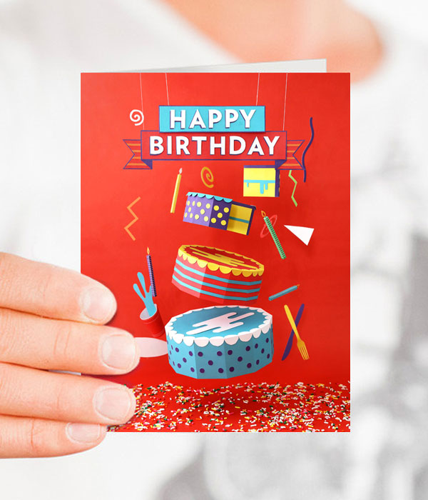 Paper Cake Card | Tommy Perez for Help Ink