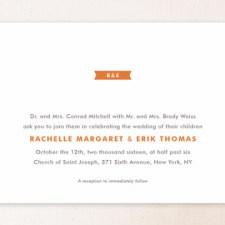 Modern Ribbon Wedding Invitations by Ann Gardner