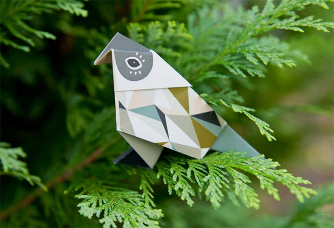 Patterned Origami Bird | Britta Manger
