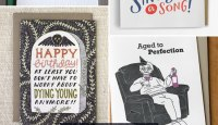 Six Funny Birthday Cards as seen on papercrave.com