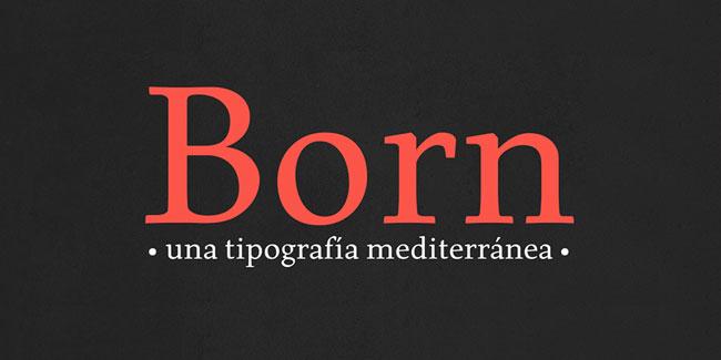 Born Font by Carlos de Toro (Free)