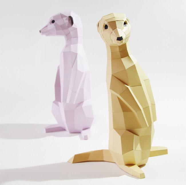 DIY Meerkat Papercraft Kit | Paperwolf