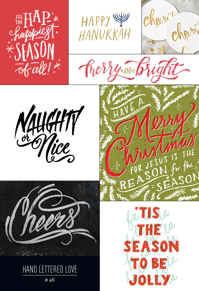 Hand Lettered Love #46 : Holiday Inspired as seen on papercrave.com