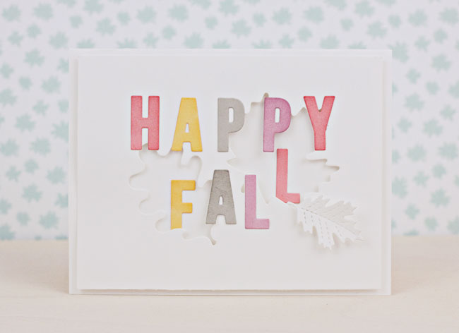 "Make a ""Happy Fall"" Card with Metal Dies 