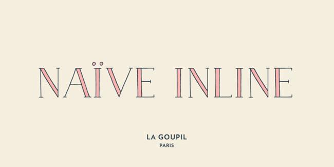 Naive Inline Font by La Goupil Paris