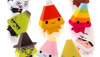 Candy Corn Citizens Free Printable Paper Toys | Dewmuffins