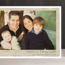 Deckled Merrier Than Ever Holiday Photo Cards