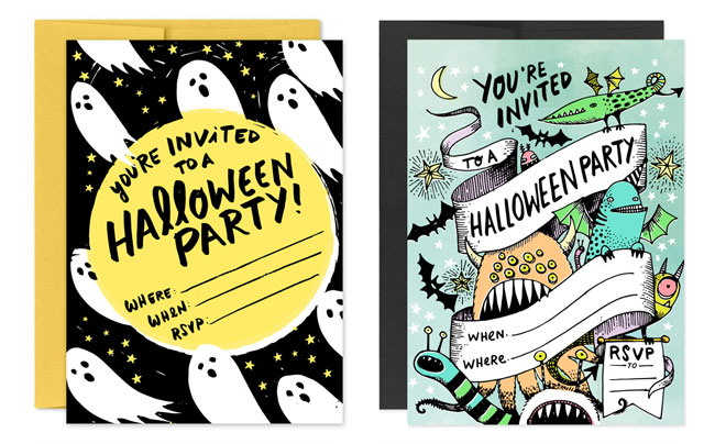 Free Printable Halloween Party Invites by Hello! Lucky