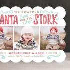 Santa for the Stork Holiday Photo Cards