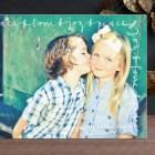 Script Frame Holiday Photo Postcards