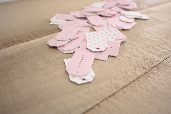 "Pink Polka Dot ""It's a Girl!"" Tags 