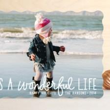 Wonderful Life Holiday Photo Cards