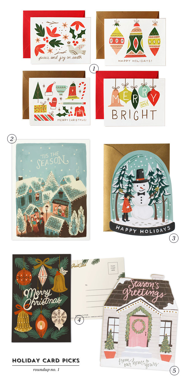 Illustrated Holiday Cards Roundup