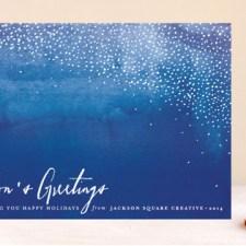 Indigo Snow Business Holiday Cards