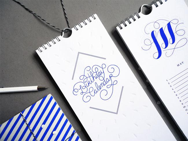 Perpetual Letterpress Birthday Calendar | Karolin Schnoor