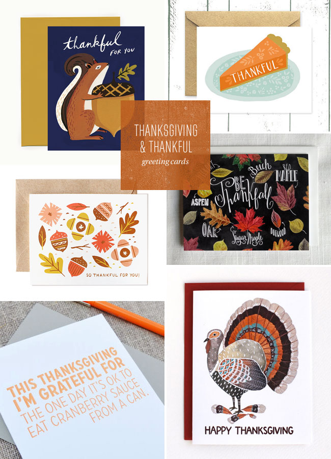 Thanksgiving & Thankful Greeting Cards