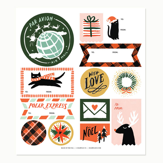 Holiday Labels by Idlewild Co.