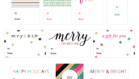 Free Printable Glam Holiday Gift Tags