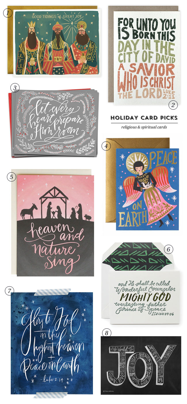 Religious & Spiritual Holiday Cards