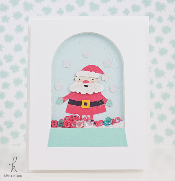 Santa Snow Globe Shaker Card Cut Files | K.becca
