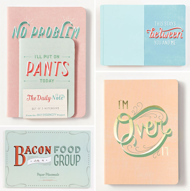 ABRAMS Noterie + Daily Dishonesty Hand Lettered Paper Goods
