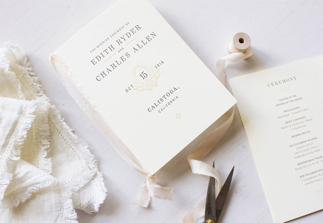 Charles Letterpress Wedding Invitations by MaeMae & Co.