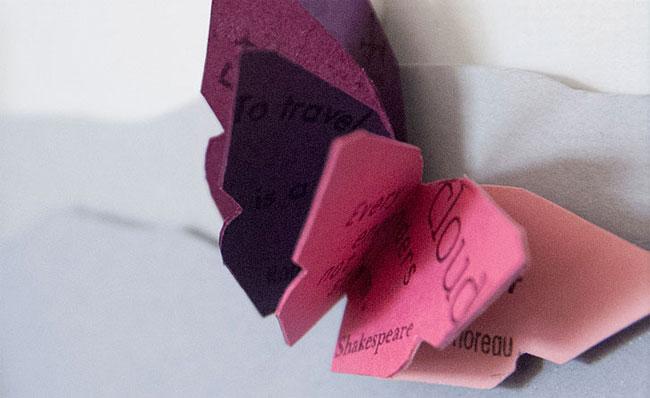 Butterfly Miniature Book Detail   Janet Guertin