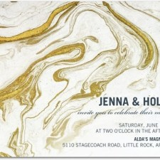 Gilded Marble Wedding Invitations by East Six Design