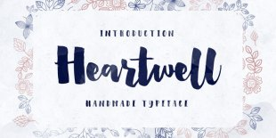 Heartwell Font by Flavortype