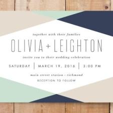 Minimal Mod Wedding Invitations by Carly Reed