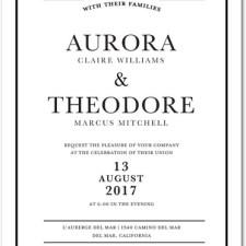 Classic Black & White Frame Wedding Invites by Magnolia Press
