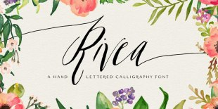 Rivea Upright Font by Magpie Paper Works